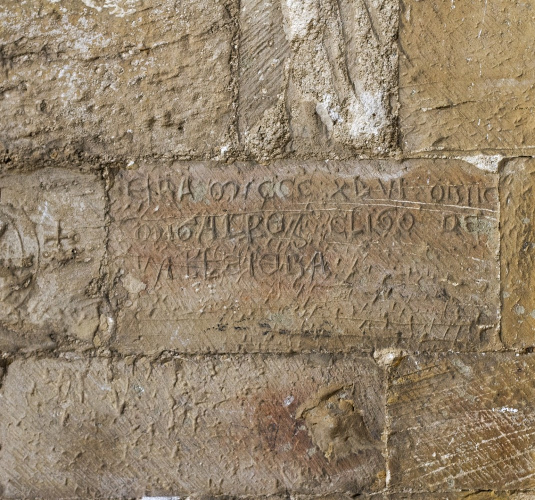 Inscription located on the buttress