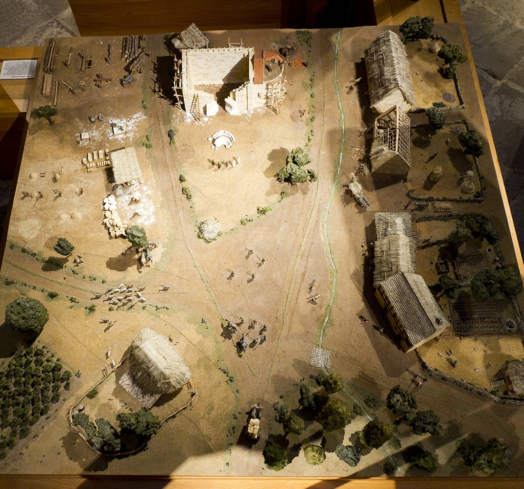 Model of a village in Romanesque times