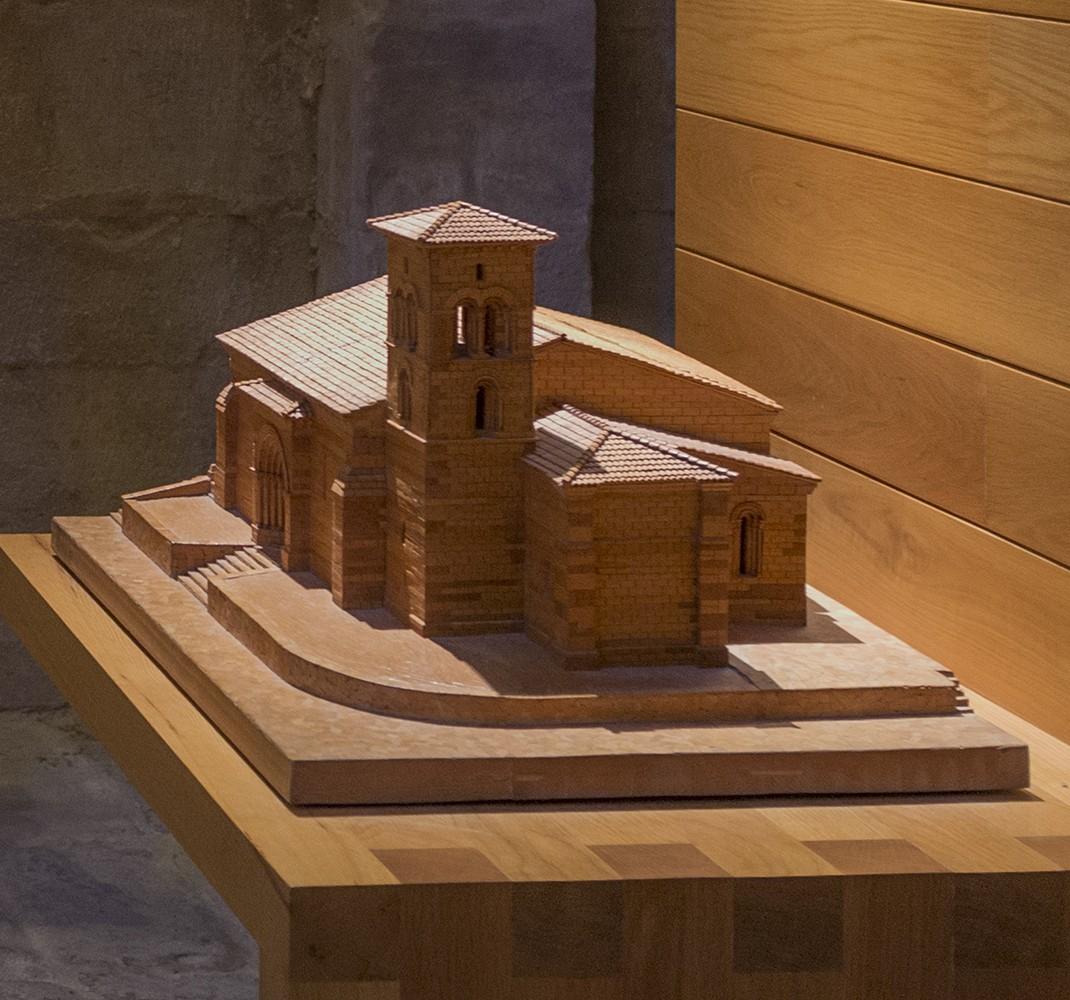 Model of the hermitage of Santa Cecilia de Aguilar de Campoo